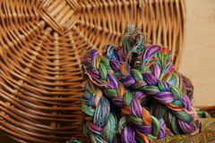 Embroidery threads of every color Stock Image