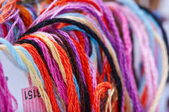 Embroidery threads floss Stock Image