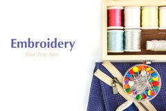 Embroidery tool  on right Stock Photography