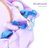 Embroidery tools Royalty Free Stock Photography