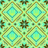 embroidery Tridente nacional ucraniano do ornamento Foto de Stock
