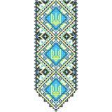 embroidery Tridente nacional ucraniano do ornamento fotografia de stock