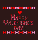 Embroidery for Valentines Day Stock Images