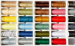 Embroidery yarn bobbins Royalty Free Stock Photo