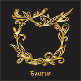 Embroidery with zodiac sign. Royalty Free Stock Photography