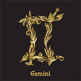Embroidery with zodiac sign. Royalty Free Stock Images