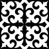 Embroidry tradicional de Seamless_Kazakhstan Foto de Stock Royalty Free