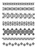 Embroidry tradizionale del Kazakhstan Illustrazione Vettoriale