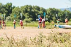 Embroma el campamento de verano imagen de archivo libre de regalías