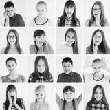 Embroma el collage de las emociones imagenes de archivo