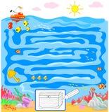 Embroma el juego: laberinto del mar stock de ilustración
