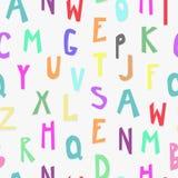 Embroma el modelo inconsútil del alfabeto Foto de archivo libre de regalías