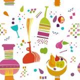 Embroma el papel pintado del modelo de la cocina Imágenes de archivo libres de regalías