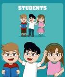 Embroma historietas de los estudiantes stock de ilustración