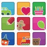 Embroma iconos Fotos de archivo libres de regalías