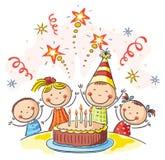 Embroma la fiesta de cumpleaños ilustración del vector