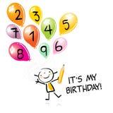Embroma la invitación del cumpleaños ilustración del vector