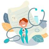 Embroma la profesión Acaricie al doctor, veterinario foto de archivo