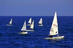 Embroma la raza de los veleros Imagen de archivo libre de regalías