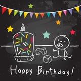 Embroma la tarjeta de felicitación del cumpleaños stock de ilustración