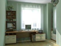 Embroma las ideas del diseño de lugar de trabajo del dormitorio, ejemplo 3D ilustración del vector