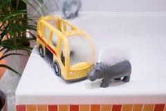 Embroma los accesorios del baño Imagen de archivo libre de regalías