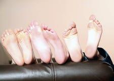 Embroma pies descubiertos Imagen de archivo libre de regalías