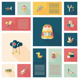 Embrome el fondo plano del ui del app de los juguetes, eps10 Fotos de archivo libres de regalías