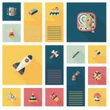 Embrome el fondo plano del ui del app de los juguetes, eps10 Fotografía de archivo libre de regalías