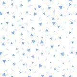 Embrome el modelo Modelo inconsútil con los pequeños triángulos en un fondo blanco Vector que repite textura Imagen de archivo