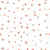 Embrome el modelo Modelo inconsútil con los pequeños triángulos en un fondo blanco Vector que repite textura Imagenes de archivo