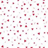 Embrome el modelo Modelo inconsútil con los pequeños triángulos en un fondo blanco Vector que repite textura Imágenes de archivo libres de regalías