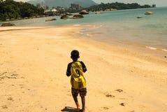 Embrome en la playa de Langkawi, Malasia, julio de 2015 Imagen de archivo