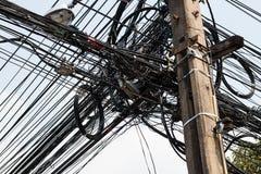 Embrouillement de câble Photos stock