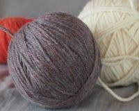 Embrouillement de fil de laine Images stock