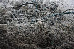 Embrouillement de filet de pêche image libre de droits