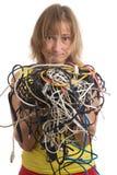 Embrouillement des câbles Photographie stock