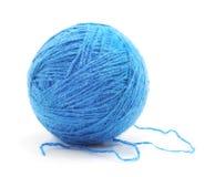 Embrouillement tricoté bleu images libres de droits