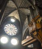 Embrun大教堂,内部 免版税库存图片