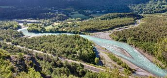 Embrun - Alpes - la Francia Fotografia Stock
