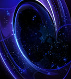 Embryo in space. The human embryo in the vastness of space, vector art illustration Stock Photo