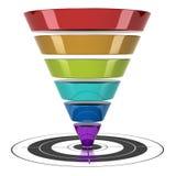 Embudo de la conversión de la comercialización del Web ilustración del vector