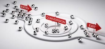 Embudo de la conversión del márketing ilustración del vector