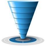 Embudo de la conversión o de las ventas, gráficos de vector Fotos de archivo libres de regalías