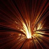 Embudo que brilla intensamente con la luz adentro ilustración del vector