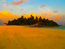 Embudu Village Island, Maledives, Indian Ocean Stock Photography