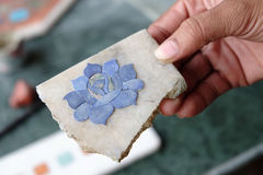 Embutido de mármol en Agra Fotos de archivo libres de regalías