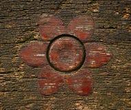 Embutido de madera de la flor fotos de archivo libres de regalías