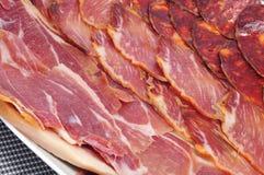 Embutido espagnol, viande froide type Image stock