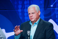EMC CEO Joe Tucci delivers an address to EMC World 2014 Royalty Free Stock Photos